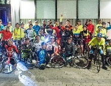 Night Owls Bike for Charity Dusk 'Til Dawn 2015 Night Cycle a Huge Success