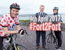 Get ready to peddle… and become King of The Mountain Fort 2 Fort Charity Cycle Sportive 2017 Sunday, 9th April