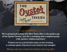 Ring in the New Year, 1920s style at The Oyster Tavern!