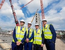 Paschal Donohoe TD, Minister for Finance Visit to Cork City  Reviewing Ongoing Progress of Penrose Dock